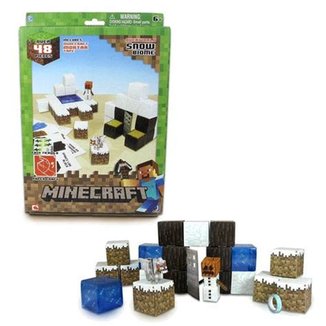 Minecraft Papercraft Sets - minecraft papercraft snow set 48 pack jazwares