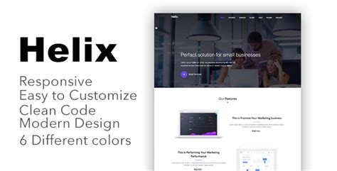 Helix Responsive Bootstrap 4 Landing Page Template Download Helix Responsive Bootstrap 4 Bootstrap 4 Landing Page Template