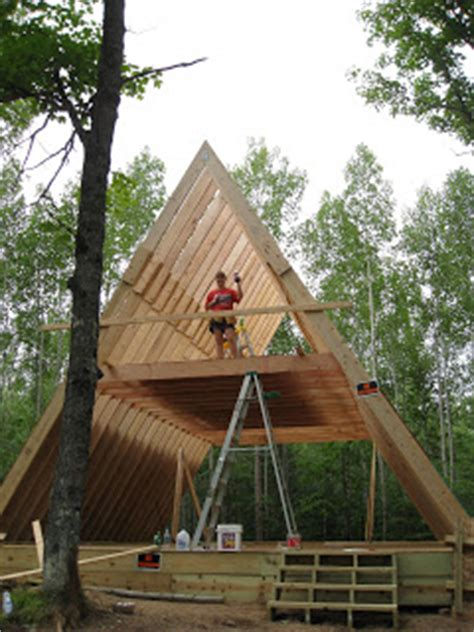 how to build an a frame house our a frame cabin