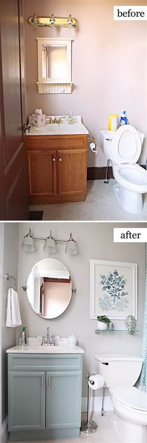Easy Bathroom Makeovers by Best 25 Small Bathroom Makeovers Ideas On