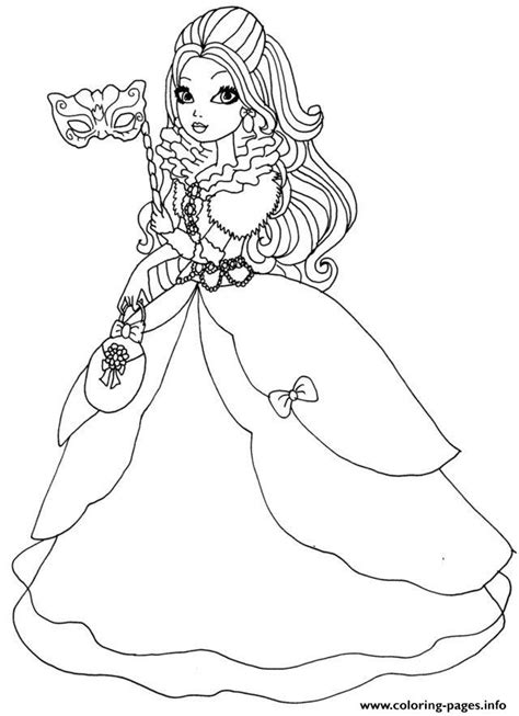 ever after high dolls coloring pages apple white thronecoming ever after high doll coloring