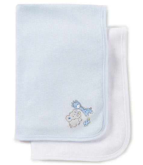 mindcraft bedding starting out baby boys 2 pack embroidered blankets dillards