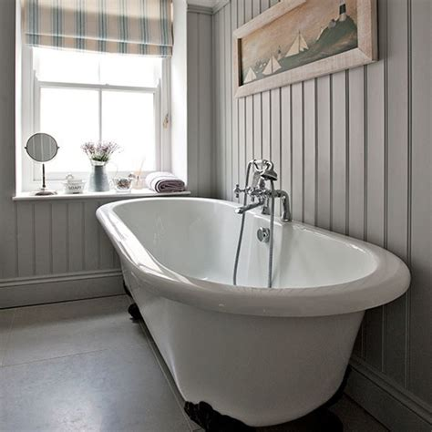 country house bathroom grey bathroom with roll top bath step inside this modern