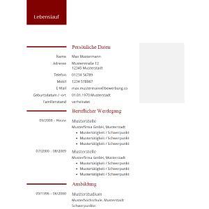 Tabellarischer Lebenslauf Referendariat lebenslauf muster und vorlagen tabellarischer lebenslauf