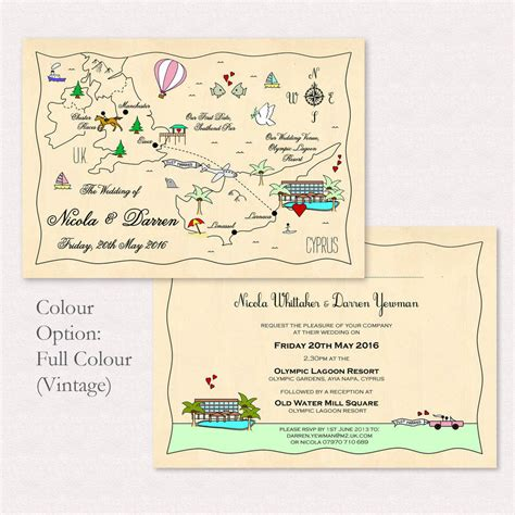 free maps for wedding invitations illustrated map or wedding invitation by maps