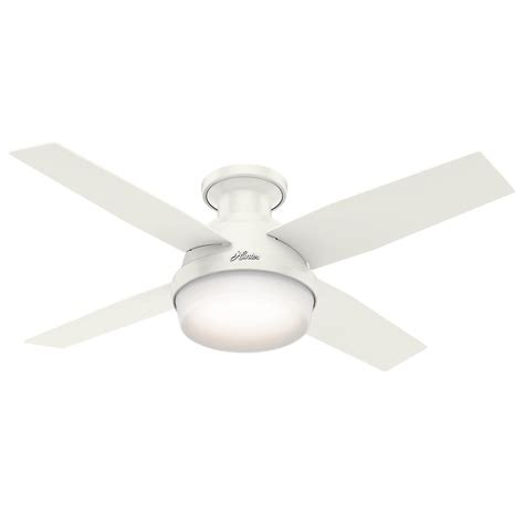 White Low Profile Ceiling Fan by Dempsey 44 In Low Profile Led Indoor Fresh White