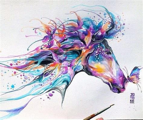 watercolor horse tattoo watercolor would this for a tattoos