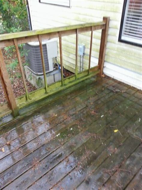 pressure washing cleaning deck pooler