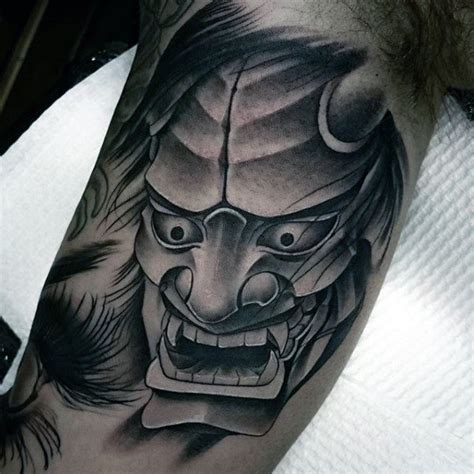 hannya mask tattoo black 100 hannya mask tattoo designs for men japanese ink ideas