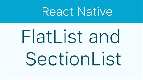react native tutorial video react native tutorial 11 flatlist and sectionlist youtube