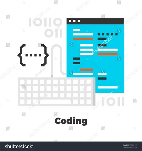 Pixel Boasts Bold And Unique Design by Coding Flat Icon Material Design Illustration Stock Vector