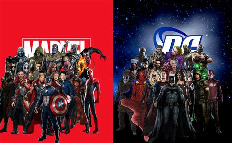 marvel versus film marvel vs dc by davidbksandrade on deviantart