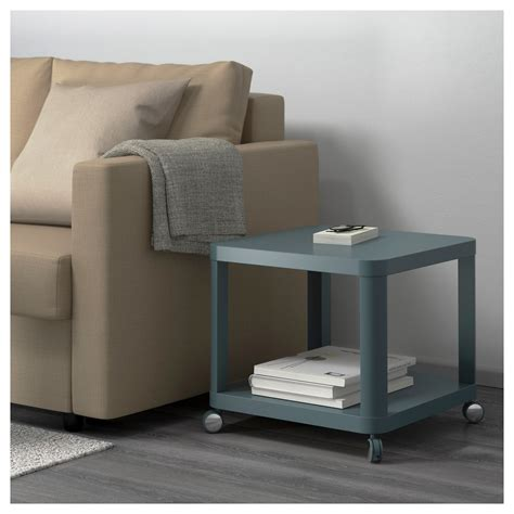 Ikea Tingby Side Table On Castors tingby side table on castors turquoise 50x50 cm ikea