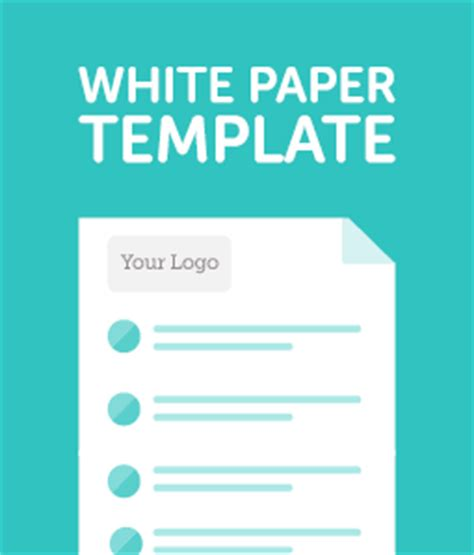product paper template white paper template cover