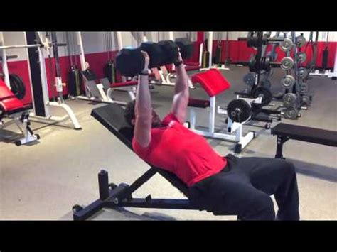 elliott hulse bench press incline bench press 1 1 4 rep dumbbell youtube
