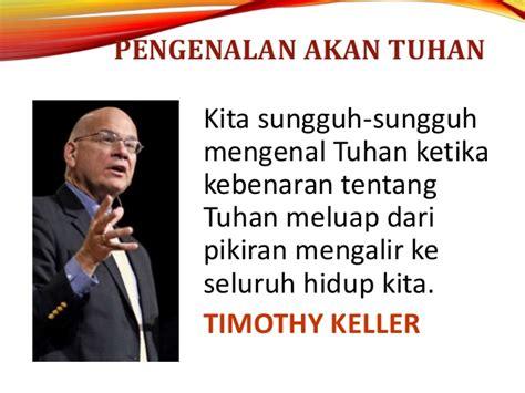 Rasio Bagi Allah Timothy Keller transformasi hidup 3 proses transformasi