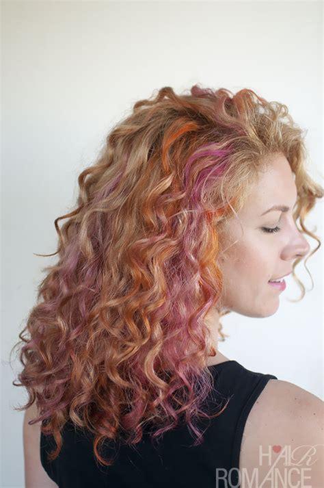 tween pink highlights curly hair new hair pink and orange curls hair romance