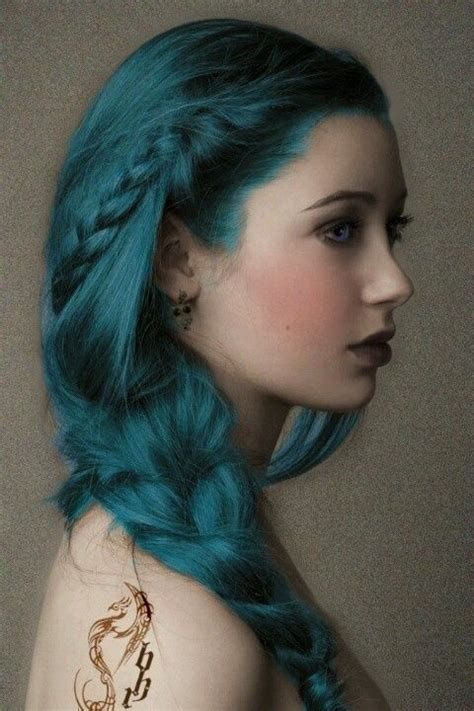 pictures of blue hair braided into brown hair 15 creative halloween hairstyles pretty designs