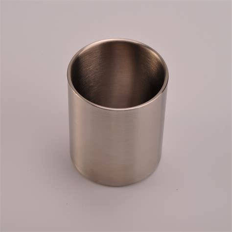 material stainless steel new arrival 304 material stainless steel candle jars for
