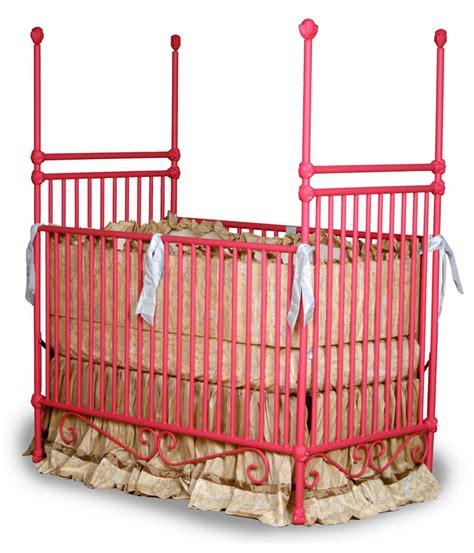 Four Post Crib by Cherub Finial Iron Crib