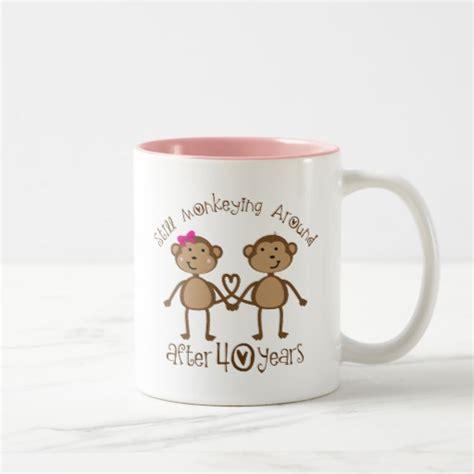 Wedding Anniversary Gift Mug by 40th Wedding Anniversary Gifts Two Tone Coffee Mug Zazzle