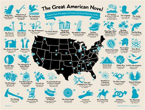 American Novel See The Many Locations Of The Great American Novel In One
