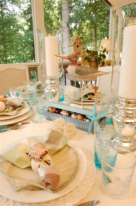 beach themed table ls beach themed table setting