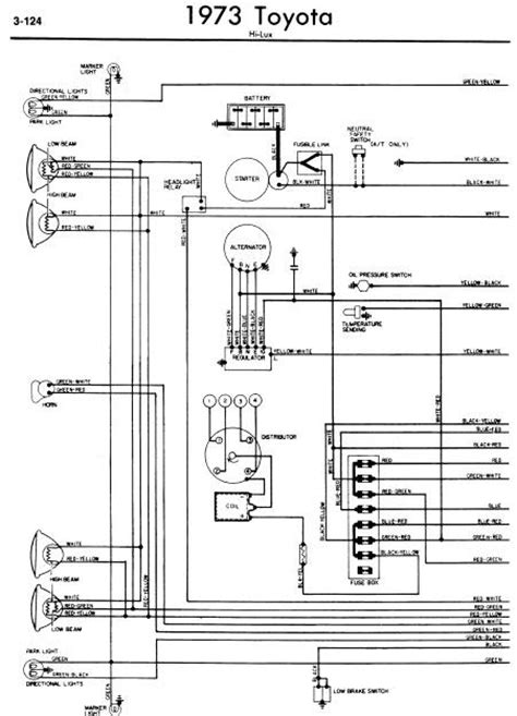 Repair Manuals Toyota Hilux 1973 Wiring Diagrams