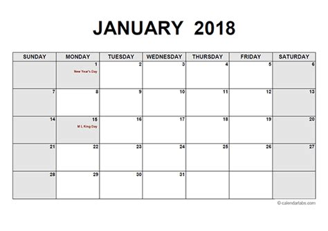 free printable monthly calendar no download free printable calendar 2018