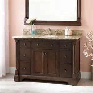 48 quot vanity for undermount sink antique coffee