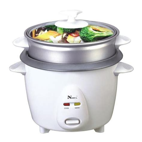 Teflon Rice Cooker non stick rice cooker with steamer 3 cup