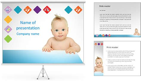 surprised baby powerpoint template backgrounds id