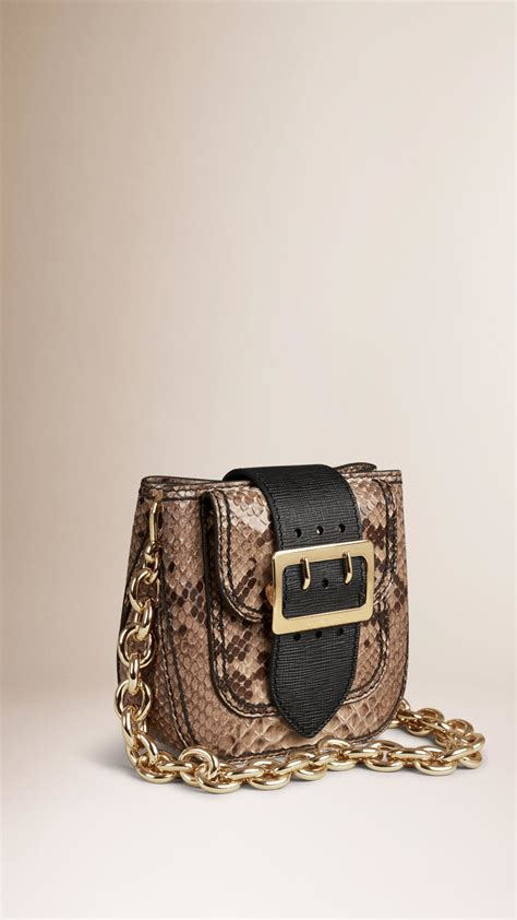 Limited Edition Python Heloise Bag by Burberry The Belt Bag Square In Python Limited Edition