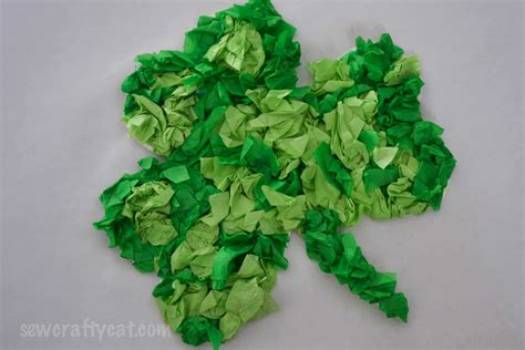 Crafting Paper - lucky shamrock tissue paper craft typically simple