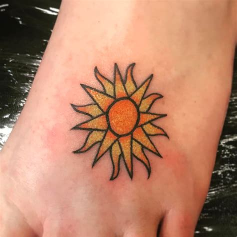 sun foot tattoo 55 totally inspiring ideas for sun design