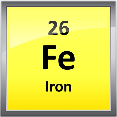 Symbol For Iron On Periodic Table by 026 Iron Science Notes And Projects