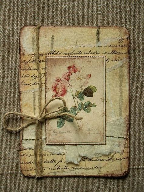 Handmade Vintage Cards - 25 unique vintage handmade cards ideas on