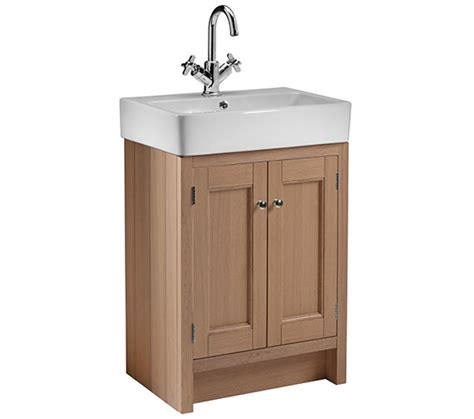 M S Bathroom Furniture Roper Hton Oak 550mm Countertop Unit Ham550b No