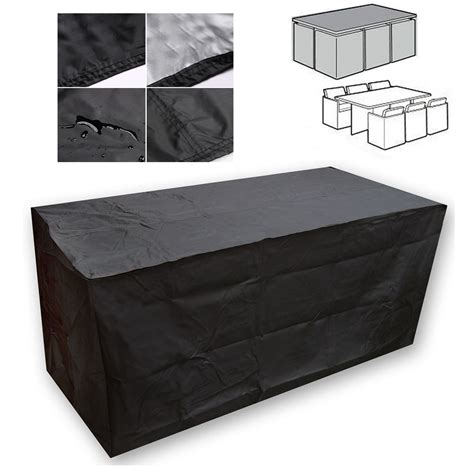 Patio Chair And Table Covers Covers by Black Waterproof Patio Furniture Cover For Outdoor Garden