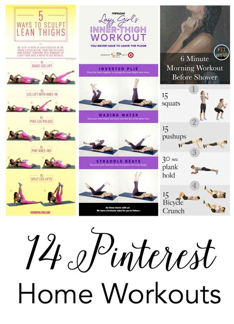 26 best images about workout routines on pinterest to 14 pinterest home workouts to get you started a merry life