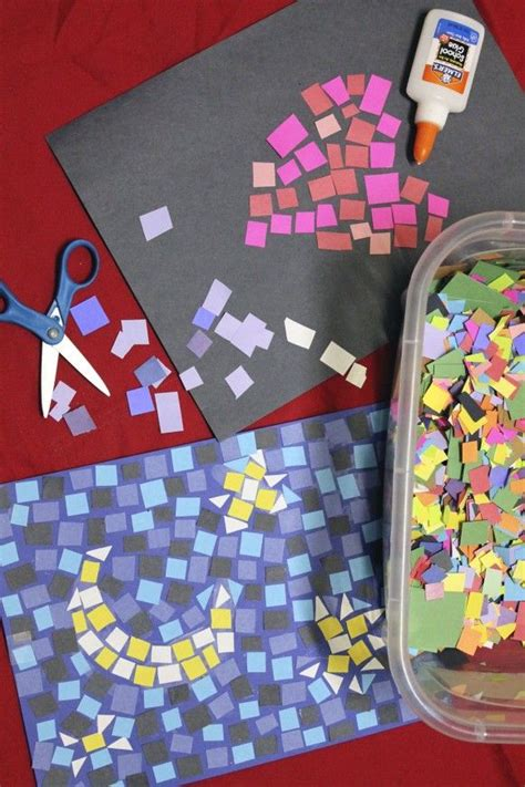 Cool Arts And Crafts With Paper - paper mosaics craft diy construction paper