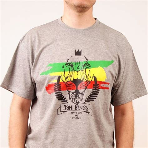 Kaosbajut Shirt Reggae Jah Bless You s 187 t shirts 187 tshirt jah bless one and respect gray nuff respekt roots
