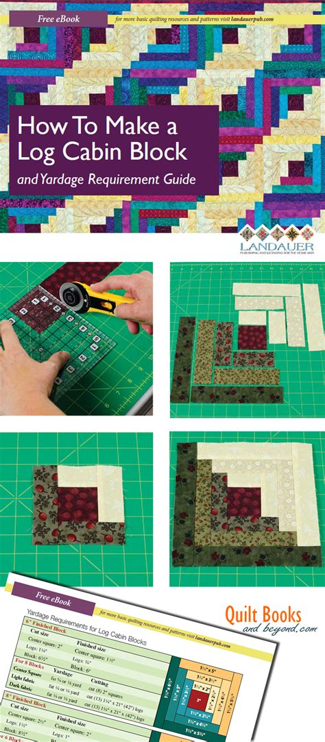 How To Make A Log Cabin Quilt Block log cabin quilt block guide shows how to make the log