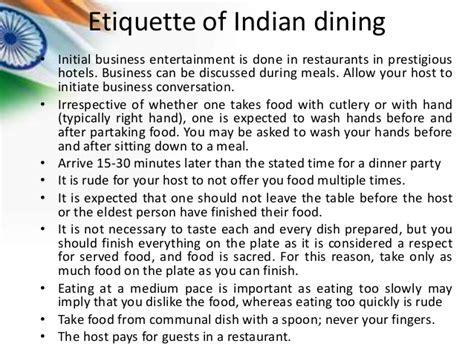 Dining Table Etiquette India Image Gallery Indian Etiquette Customs
