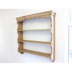 pine wall shelves w92cm
