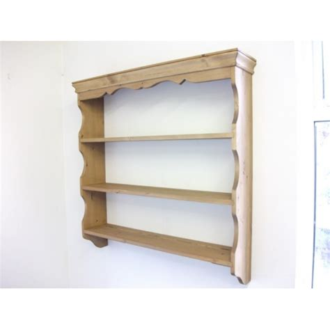 Country Kitchen Corner Cabinet by Pine Wall Shelves W92cm