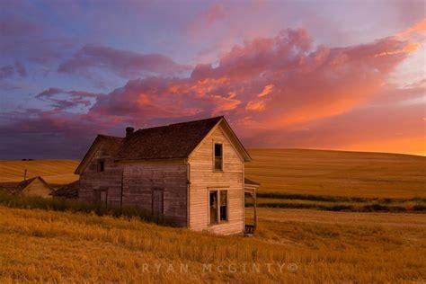 palouse farm house sunset pixdaus