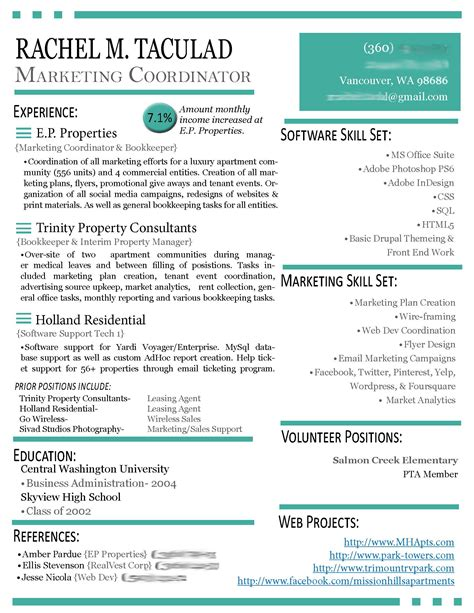 Modern Resume pin resume exles modern 027 woocv on