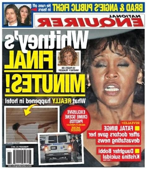 Upclose National Enquirer Whitney Houston Photo In   upclose national enquirer whitney houston photo in open