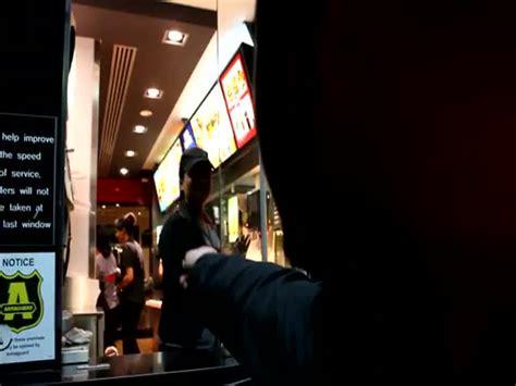 Man raps mcdonalds order online